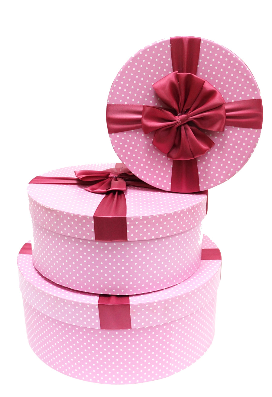 Подарочная коробка своими руками круглую