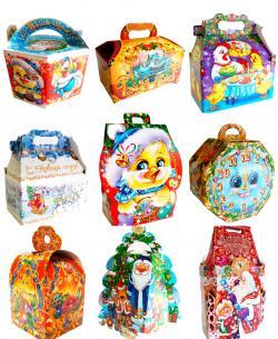 Новогодние коробки интересах конфет